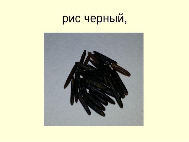 рис черный,