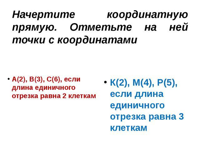 Начертите координатную прямую. Отметьте на ней точки с координатами А(2), В(3...