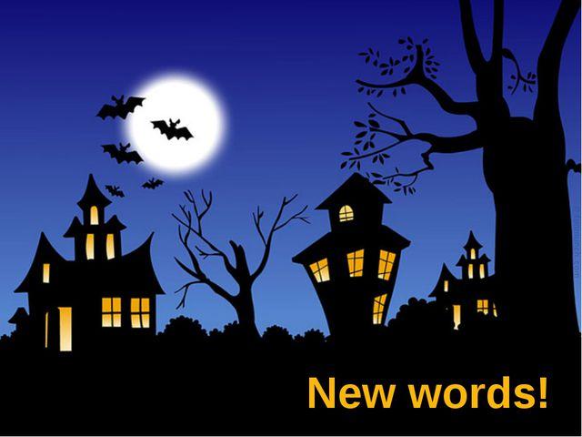 New words! Автор: Евдокимова А.В.