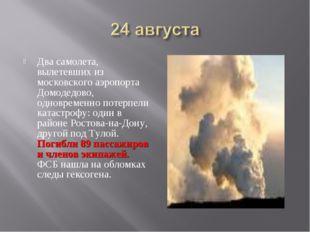 Два самолета, вылетевших из московского аэропорта Домодедово, одновременно по