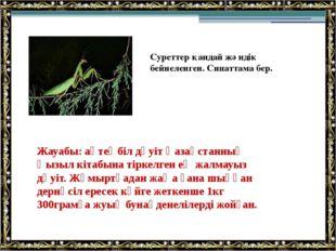 Жауабы: ақтеңбіл дәуіт Қазақстанның Қызыл кітабына тіркелген ең жалмауыз дәуі