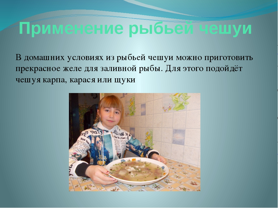 Применение рыбьей чешуи В домашних условиях из рыбьей чешуи можно приготовить...
