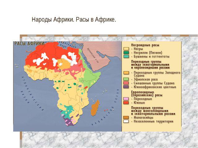 Народы Африки. Расы в Африке.