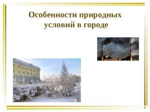Особенности природных условий в городе