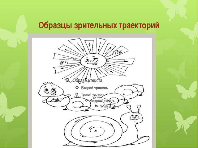Образцы зрительных траекторий