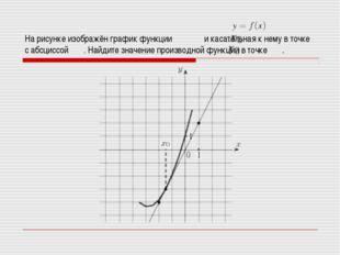 На рисунке изображён график функции и касательная к нему в точке с абсциссой