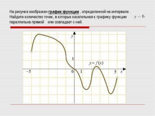 На рисунке изображен графикфункции , определенной на интервале . Найдите кол