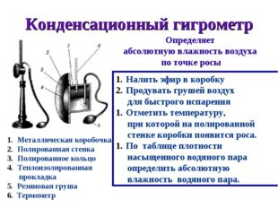 Конденсационный гигрометр Металлическая коробочка Полированная стенка Полиров