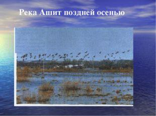 Река Ашит поздней осенью