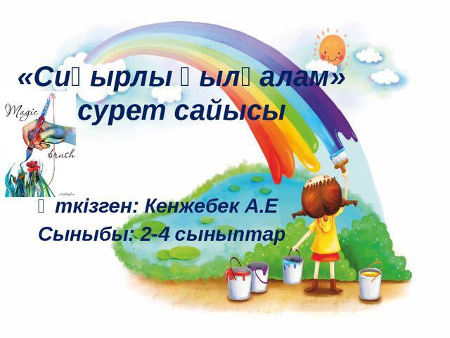 «Сиқырлы қылқалам» сурет сайысы Өткізген: Кенжебек А.Е Сыныбы: 2-4 сыныптар