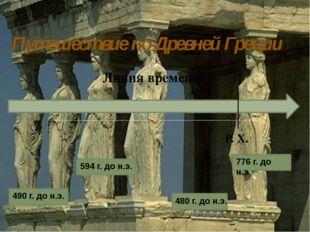 Путешествие по Древней Греции Линия времени Р. Х. 594 г. до н.э. 490 г. до н.