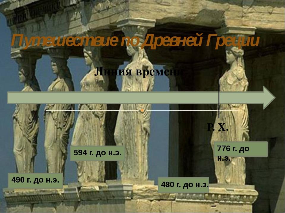 Путешествие по Древней Греции Линия времени Р. Х. 594 г. до н.э. 490 г. до н....