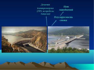 Регулируемость стока Нет наводнений Дешевая электроэнергия (70% за пределы Ха