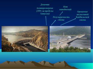 Орошение засушливой Кайбальской степи Регулируемость стока Нет наводнений Деш
