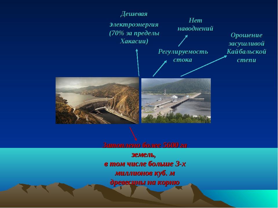 Орошение засушливой Кайбальской степи Регулируемость стока Нет наводнений Зат...