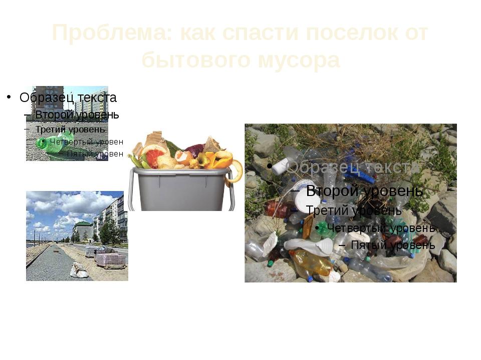 Проблема: как спасти поселок от бытового мусора