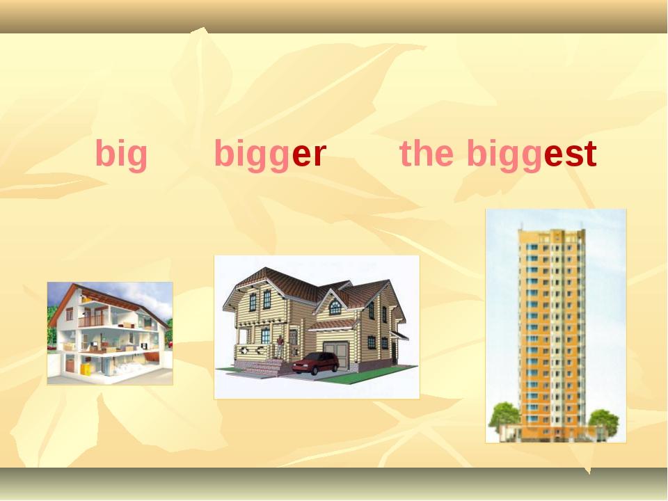 big bigger the biggest