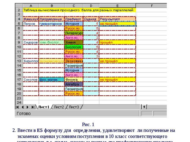 Практическая работа № 8 Табличный процессор Excel (повторение) Ввод табличны...