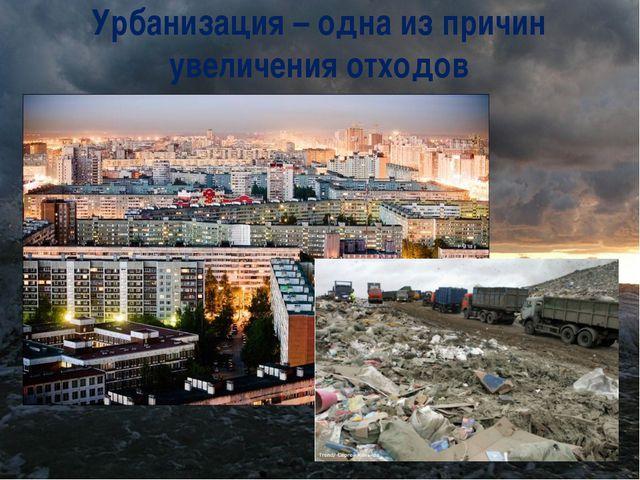 Урбанизация – одна из причин увеличения отходов