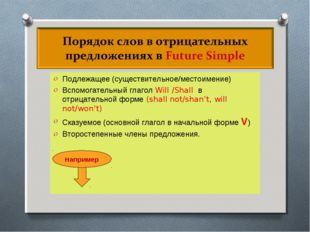 Подлежащее (существительное/местоимение) Вспомогательный глагол Will /Shall в
