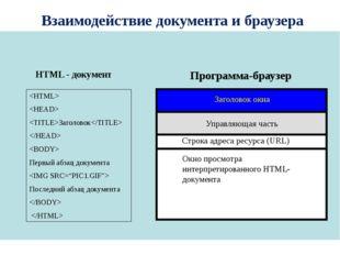 Заголовок   Первый абзац документа  Последний абзац документа   HTML - док