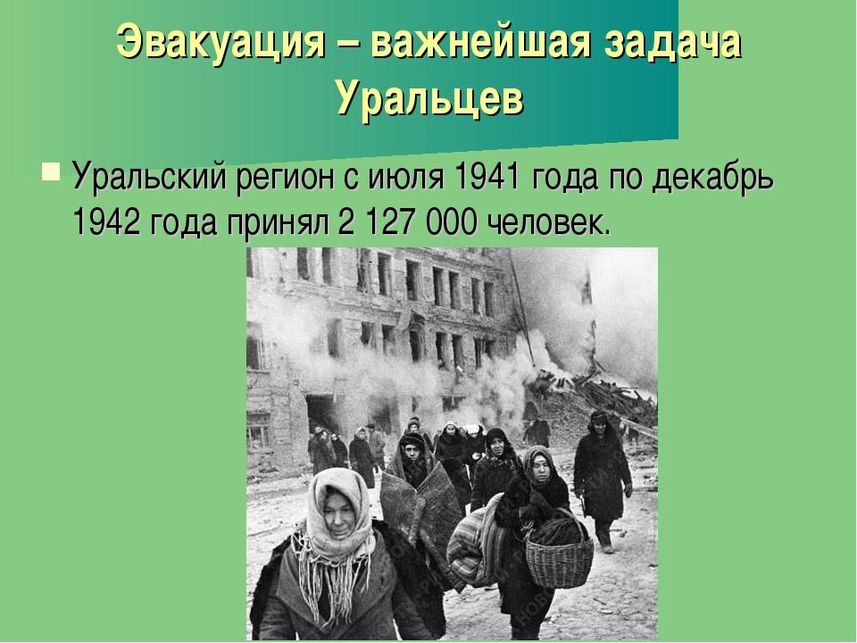 Эвакуация – важнейшая задача Уральцев Уральский регион с июля 1941 года по де...