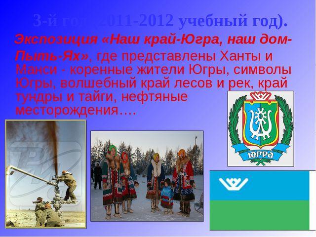 3-й год (2011-2012 учебный год). Экспозиция «Наш край-Югра, наш дом- Пыть-Ях...