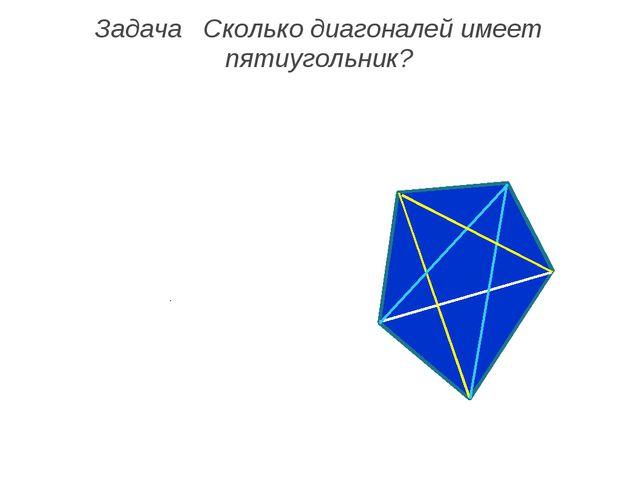 Задача Сколько диагоналей имеет пятиугольник?