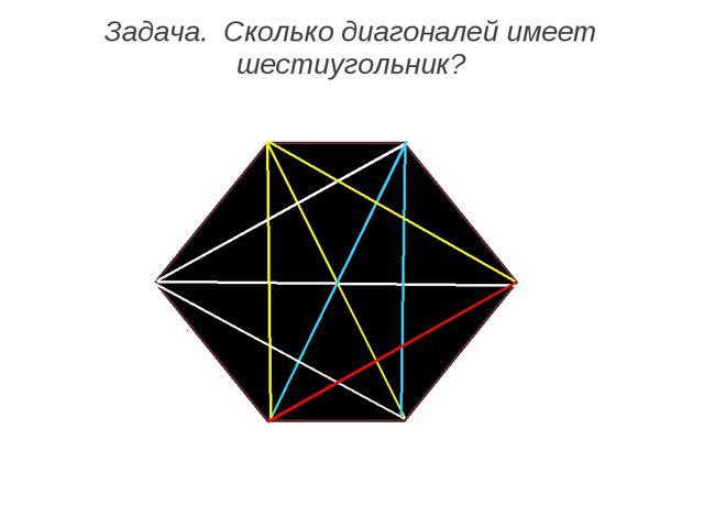 Задача. Сколько диагоналей имеет шестиугольник?