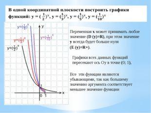 В одной координатной плоскости построить графики функций:y=2x, y=3x, y=5x, y