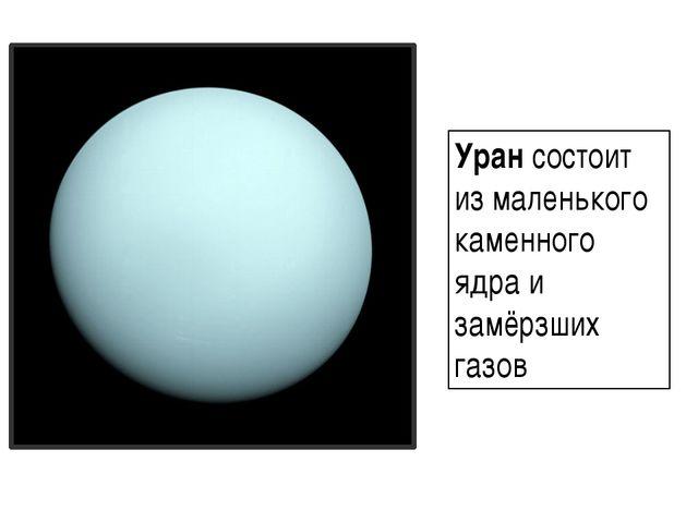 Уран состоит из маленького каменного ядра и замёрзших газов