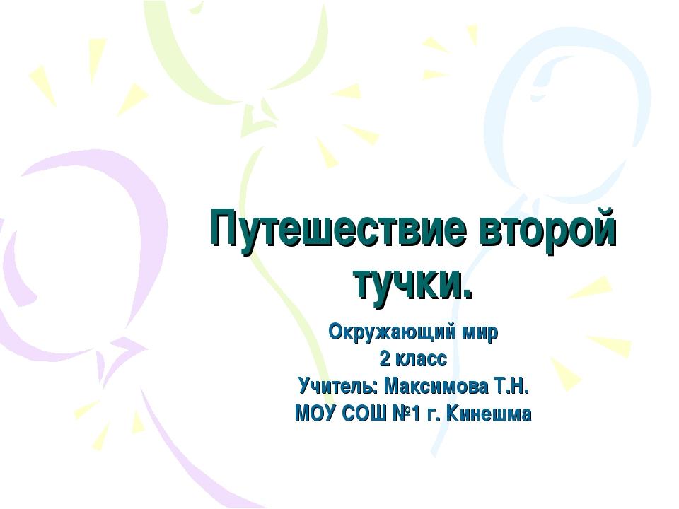 Путешествие второй тучки. Окружающий мир 2 класс Учитель: Максимова Т.Н. МОУ...