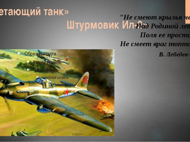 """«Летающий танк» Штурмовик Ил-2» """"Не смеют крылья черные Над Родиной летать, П..."""