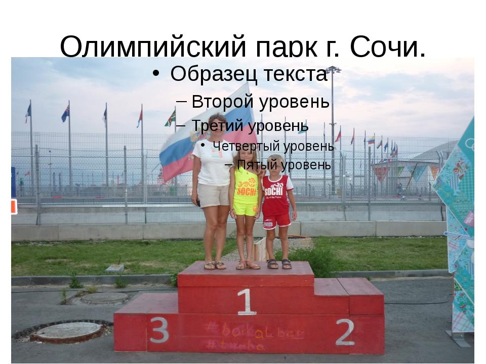 Олимпийский парк г. Сочи.