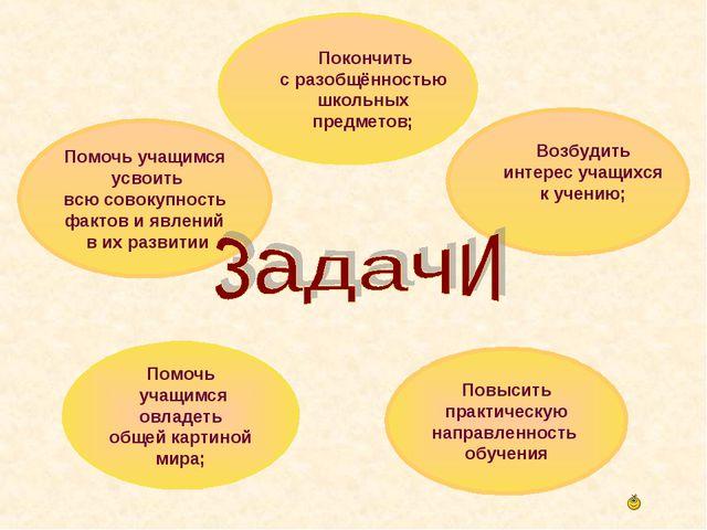 Помочь учащимся усвоить всю совокупность фактов и явлений в их развитии Покон...