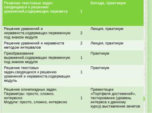Решение текстовых задач сводящихсяк решению уравнений,содержащих параметр 1