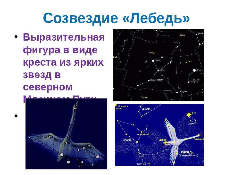 Созвездие «Лебедь» Выразительная фигура в виде креста из ярких звезд в северн...