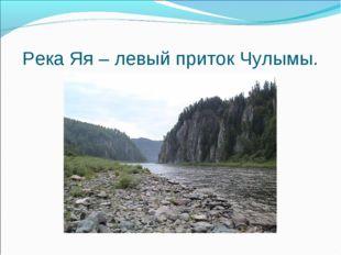 Река Яя – левый приток Чулымы.