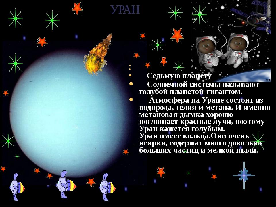 УРАН Седьмую планету Солнечной системы называют голубой планетой-гигантом....