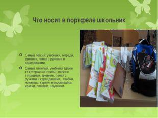 Что носит в портфеле школьник Самый легкий: учебники, тетради, дневник, пенал