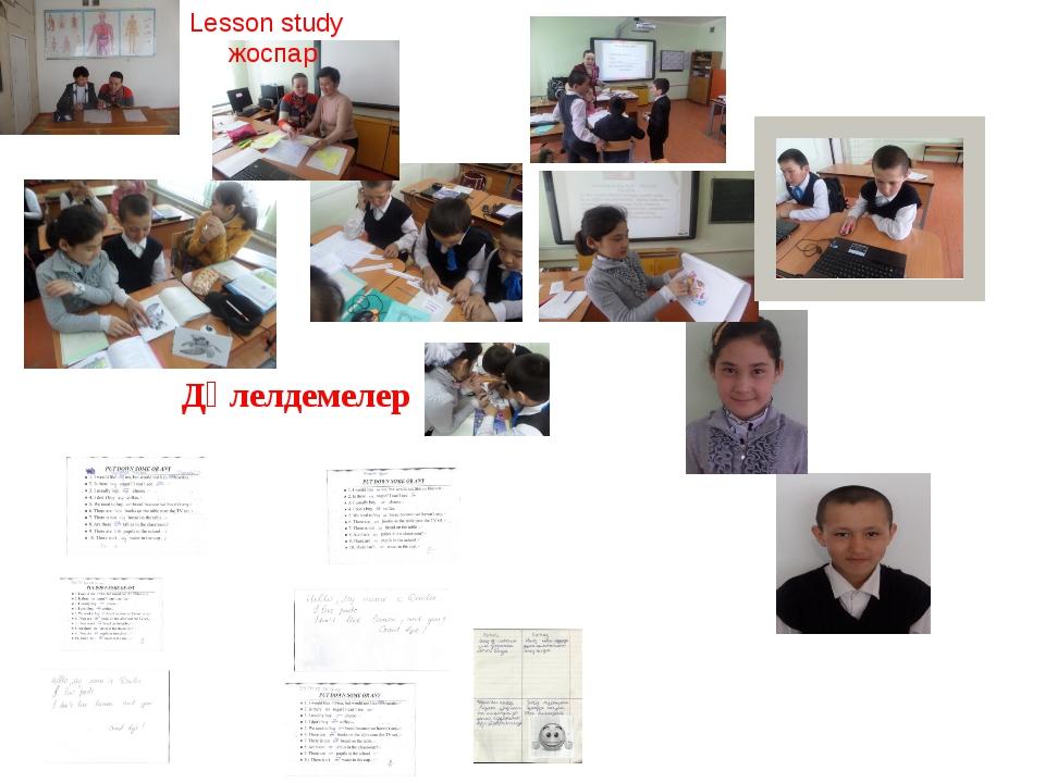 Дәлелдемелер Lesson study жоспар