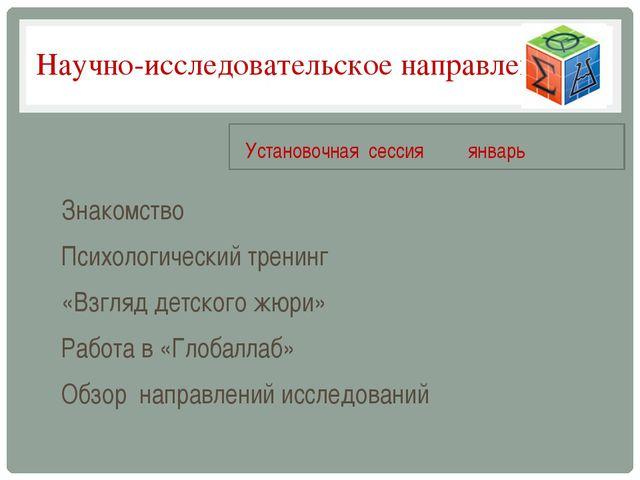 Научно-исследовательское направление Знакомство Психологический тренинг «Взгл...
