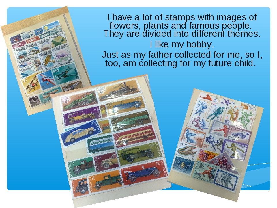 I have a lot of stamps with images of flowers, plants and famous people. Th...
