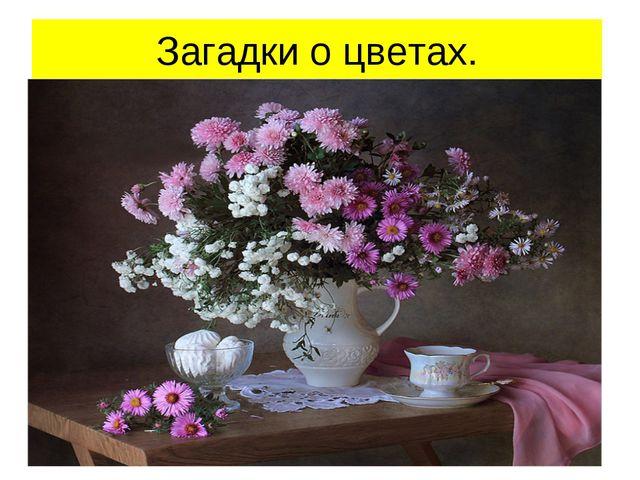 Загадки о цветах.