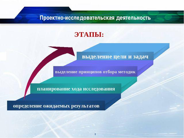 Проектно-исследовательская деятельность ЭТАПЫ: *