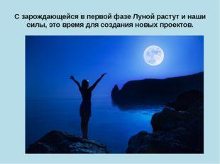 С зарождающейся в первой фазе Луной растут и наши силы, это время для создани