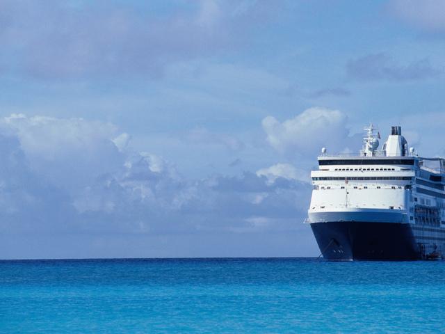 Картинка судно, море, пассажирский лайнер, океан 1920x1080, фото 103294