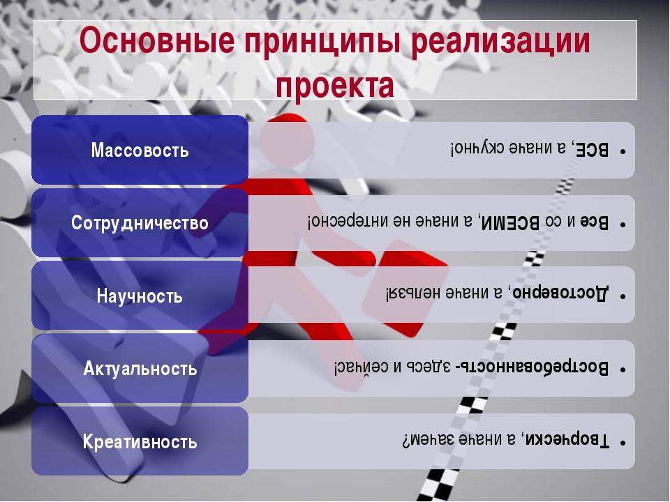 Основные принципы реализации проекта