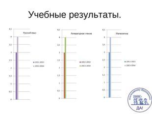 Учебные результаты.