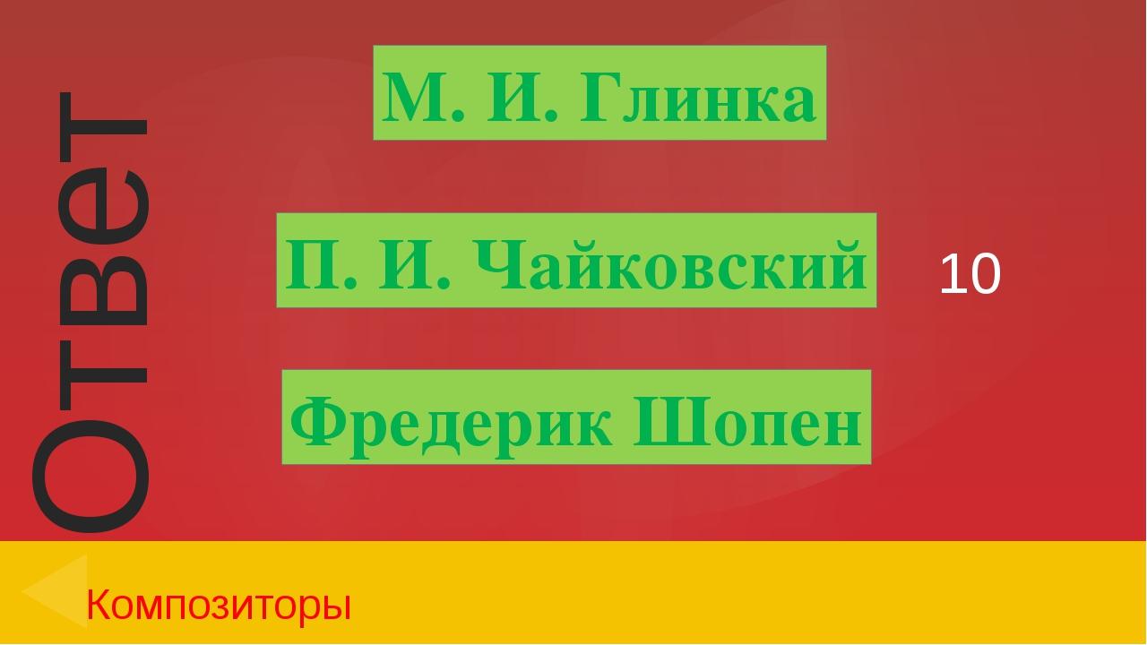 20 Композиторы С. С. Прокофьев Эдвард Григ С. В. Рахманинов Ответ Введите отв...